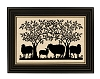 SHEEP UNDER TREE SILHOUETTE