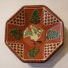 Small Eight Sided Redware Plate