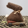 Small Brown Bunny Pull Toy