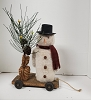 Large Snowman Pull Toy