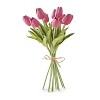13.5 Inch Fuchsia Real Touch Mini Tulip Bundle (12 Stems)