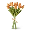 13.5 Inch Orange Real Touch Mini Tulip Bundle (12 Stems)