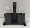 Salt and Pepper Shaker Holder in Textured Black