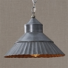 Galvanized Crimp Pendant Light