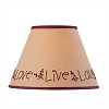 Live Laugh Love Embroidered Shade - 10