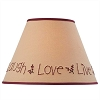Live Laugh Love Embroidered Shade - 12