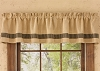 Burlap and Check Valance - Black