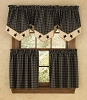 Sturbridge Star Lined Single Point Valance - Black