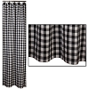 Black Check Shower Curtain