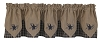 Sturbridge Star Embroidered Point Valance - Navy