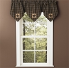 Sturbridge Patch Lined Triple Point Valance - Black