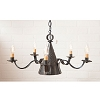 Small Sturbridge Tin Chandelier in Kettle Black