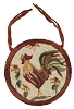 Rooster Hooked Chair Pad