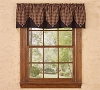 Hickory Lined Point Valance