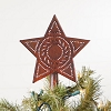 Star Tree Topper in Rustic Tin