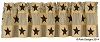 Primitive Star Lined Valance