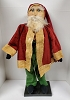 Clay Face Santa in Green Pants and Velveteen Coat