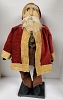 Clay Face Santa in Brown Pants and Velveteen Coat