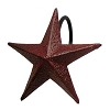 Burgundy Star Shower Curtain Hooks Set/12