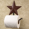 Burgundy Barn Star Toilet Paper Holder