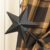 Black Barn Star Curtain Tiebacks Set/2 (4
