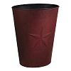 Large Burgundy Barn Star Waste Basket (12.5x16