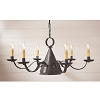 Madison Tin Chandelier in Kettle Black