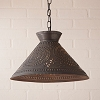 Roosevelt Shade Pendant Light Blackened Tin
