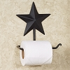Black Barn Star Toilet Paper Holder