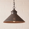 Stockbridge Shade Pendant Light Star in Blackened Tin