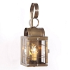 Single Wall Lantern with Bars Weathered Brass
