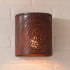 Chisel Tin Sconce Light in Rustic Tin