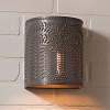Willow Tin Sconce Light in Kettle Black