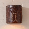 Willow Tin Sconce Light Rustic Tin