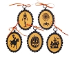 HALLOWEEN SILHOUETTE ORNAMENTS