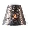 Fireside Tin Shade with Chisel Design
