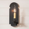 Apothecary Wall Tin Sconce in Kettle Black