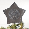 Large Star Tree Topper in Blackened Tin