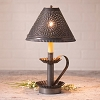 Plantation Candlestick Tin Lamp with Chisel Shade
