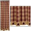 Burgundy Farmhouse Star Shower Curtain (72x72