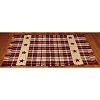 Burgundy Farmhouse Star Rug 2 ft x 3.5 ft.