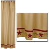 Primitive Star Vine Cotton Burlap Shower Curtain