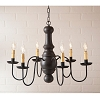 Maple Glenn Chandelier in Americana Black
