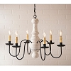 Maple Glenn Chandelier in Americana White