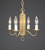 Four Arm Brass Chandelier
