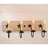 Four Arm Vanity Light w/Stars in Sturbridge White