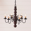Manassas Wooden Chandelier in Hartford Red over Black