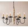 Manassas Wooden Chandelier in Sturbridge White