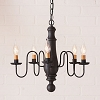 Medium Norfolk Wooden Chandelier in Hartford Black over Red