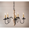 Medium Norfolk Wooden Chandelier in Sturbridge White